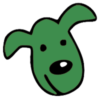 package - green dog